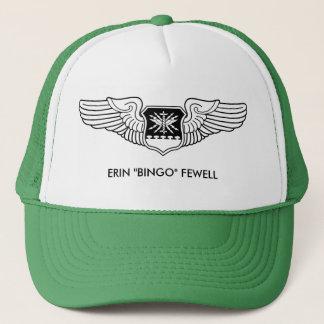 Navigator Wings Black Line Drawing Custom Name Trucker Hat