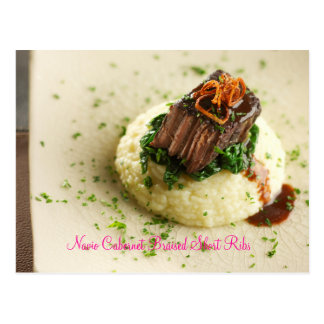 Navio Cabernet Braised Short Ribs Postcard