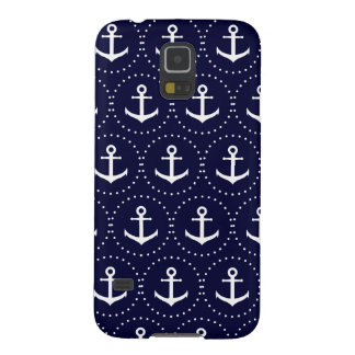 Navy anchor circle pattern case for galaxy s5