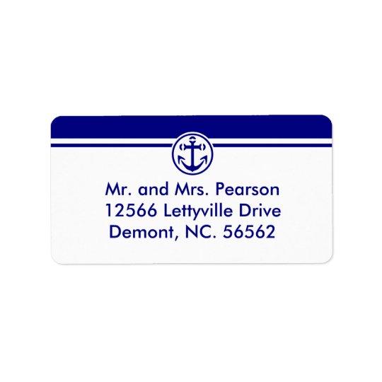Navy Anchor Label