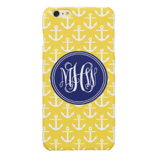 Navy Anchors Pineapple 3 Init Vine Script Monogram