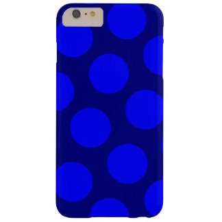 Navy and Blue Polka Dots Barely There iPhone 6 Plus Case