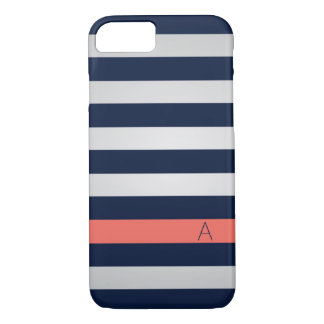 Navy and Coral iPhone 7 case
