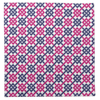Navy and Fuchsia Garden Lattice Napkin