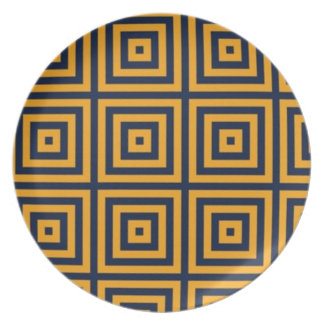 Navy and Gold Chevron Plate 2