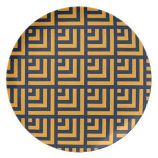 Navy and gold Chevron Plate 4