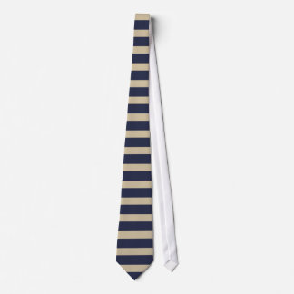 Navy and Gold Horizontal Striped Tie