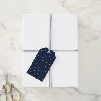 Navy And Gold Stars Gift Tags