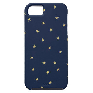 Navy And Gold Stars iPhone 5 Case