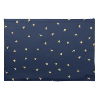 Navy And Gold Stars Placemat
