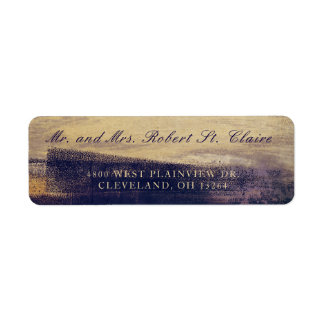 Navy and Gold Watercolor Wash Return Address Label