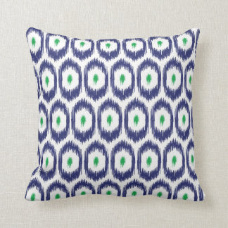 Navy and Green Double Sided iKat Pillow
