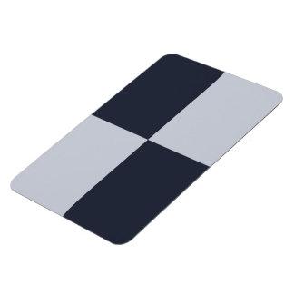 Navy and Grey Rectangles Rectangular Photo Magnet