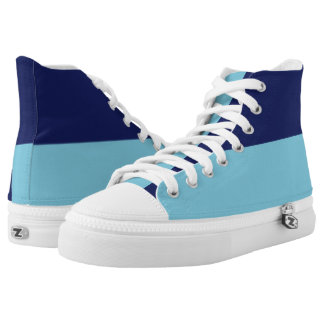 Navy and Sky Blue Hi-Top