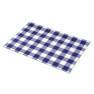 Navy and White Gingham Pattern Placemat