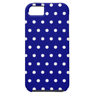 Navy and White Polka Dots iPhone 5 Case