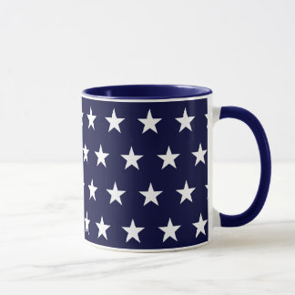 Navy and White Stars Mug