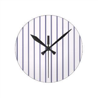 Navy and White Ticking Clocks