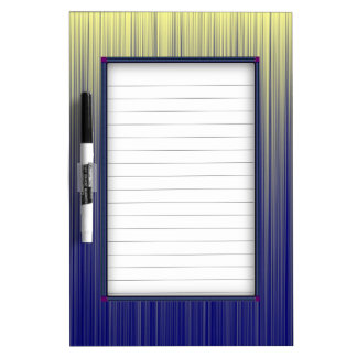 Navy and Yellow Gradient Line Pattern Dry-Erase Whiteboards