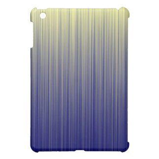 Navy and Yellow Gradient Line Pattern iPad Mini Cases