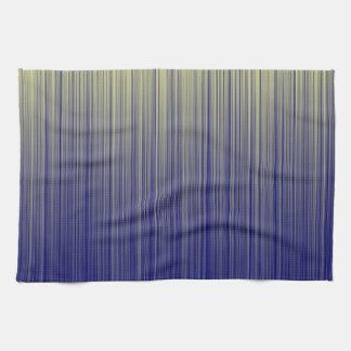 Navy and Yellow Gradient Line Pattern Kitchen Towel