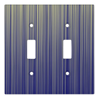 Navy and Yellow Gradient Line Pattern Light Switch Cover