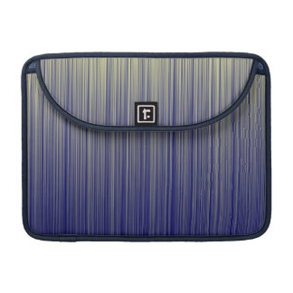 Navy and Yellow Gradient Line Pattern Sleeve For MacBooks
