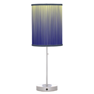 Navy and Yellow Gradient Line Pattern Table Lamp
