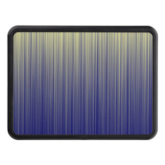 Navy and Yellow Gradient Line Pattern Trailer Hitch Cover