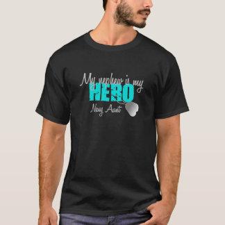 Navy Aunt Hero Nephew T-Shirt