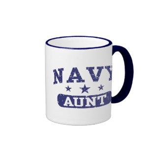 Navy Aunt Ringer Coffee Mug