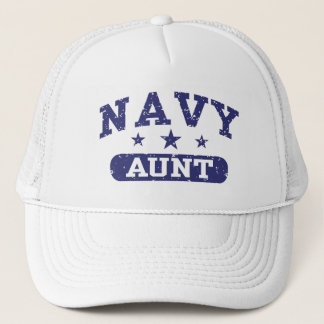 Navy Aunt Trucker Hat