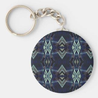 Navy Black Gray Hip Masculine Pattern Keychain
