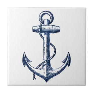 Navy Blue Anchor Ceramic Tiles