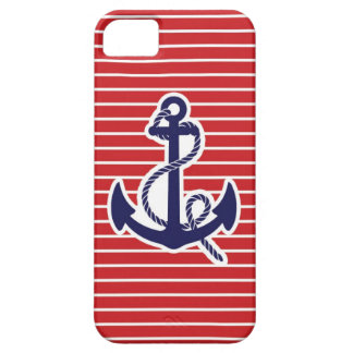 Navy blue anchor iPhone 5 cases