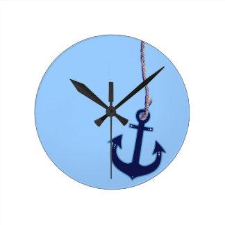 navy blue anchor nautical home decor clocks