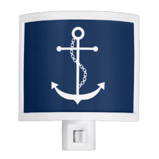 Navy Blue Anchor Night Lites