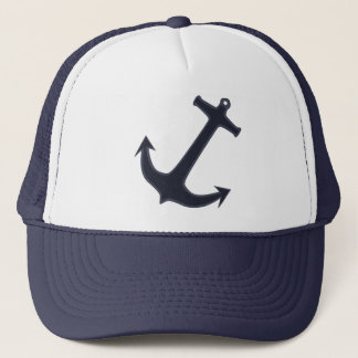 Navy Blue Anchor Trucker Hat