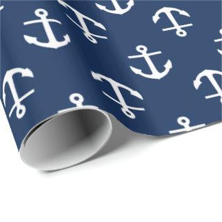 Navy Blue Anchors Pattern