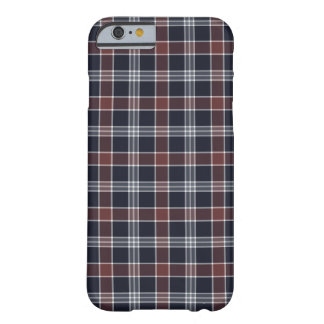 Navy Blue and Burgundy Plaid Barely There iPhone 6 Case