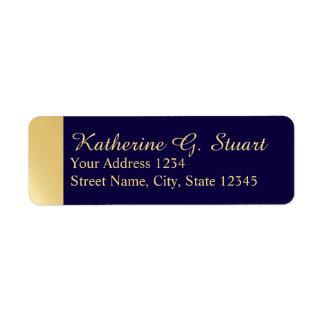 Navy Blue and Gold Modern Elegant