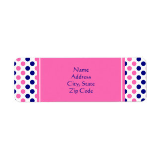 Navy Blue and Hot Pink Polka Dot Pattern