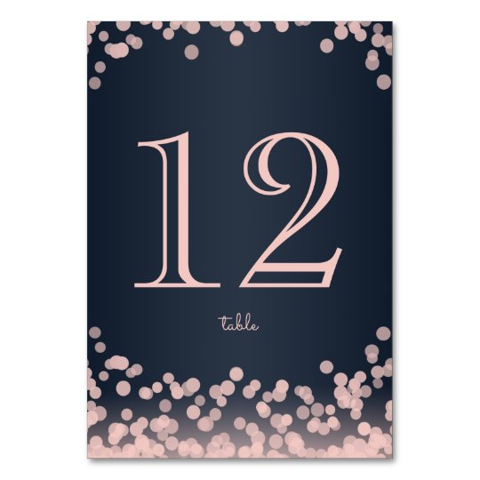 Navy Blue and Pink Sparkle Lights Card