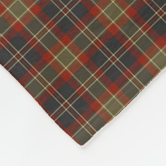 Navy Blue and Red Rustic Plaid Pattern Fleece Blanket