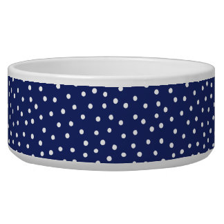 Navy Blue and White Confetti Dots Pattern