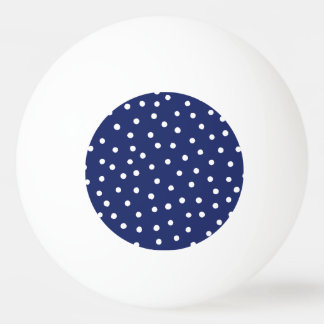 Navy Blue and White Confetti Dots Pattern Ping Pong Ball