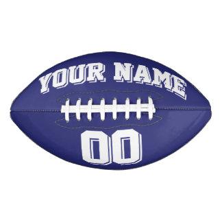 NAVY BLUE AND WHITE Custom Football