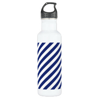 Navy Blue and White Diagonal Stripes Pattern