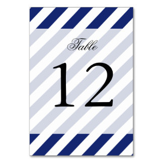 Navy Blue and White Diagonal Stripes Pattern Card