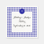 Navy Blue and White Gingham, Your Monogram Napkin